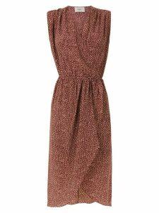 Egrey silk printed dress - Red