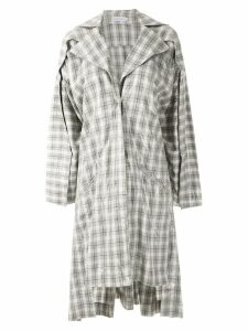Mara Mac oversized checked coat - Grey