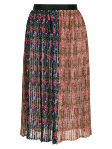 À La Garçonne pleated printed skirt - Multicolour
