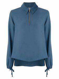 Egrey zip detail blouse - Blue