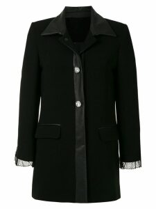 Andrea Bogosian lace detail coat - Black