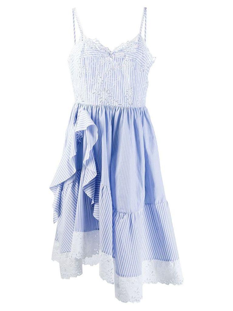Ermanno Scervino striped dress - Blue