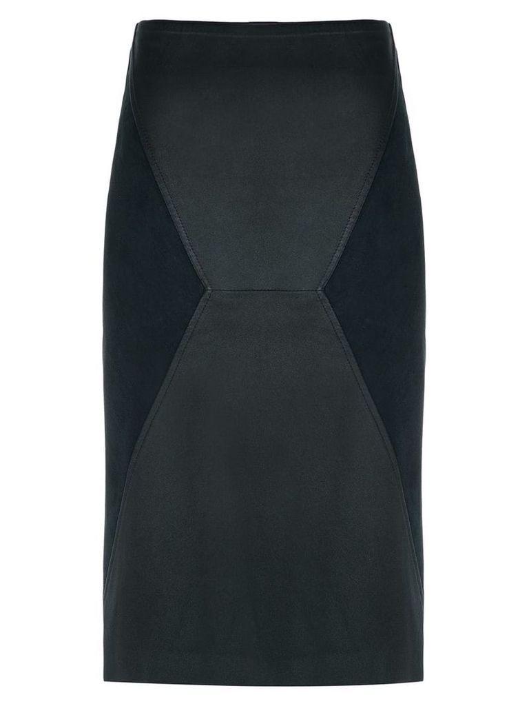 Clé leather pencil skirt - Black
