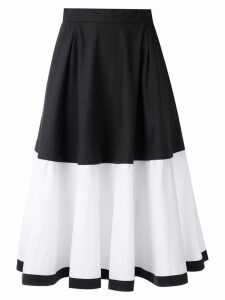 Magrella two tone flared midi skirt - Blue