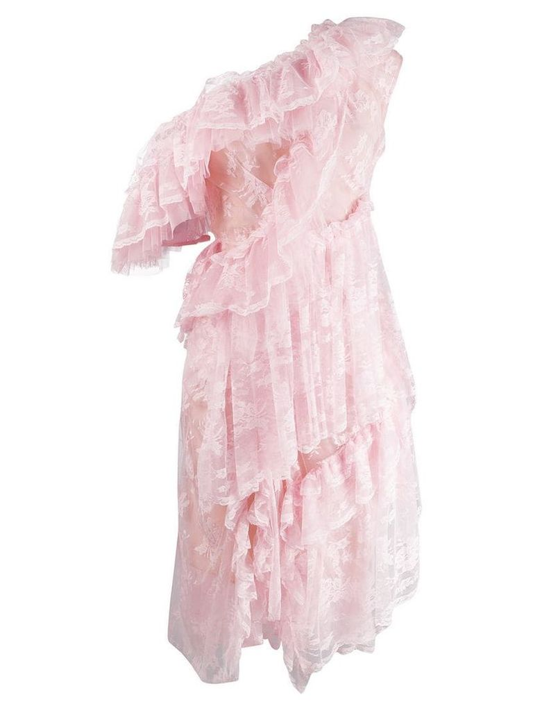 Preen By Thornton Bregazzi off the shoulder ruffle dress - Pink