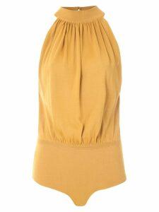 Egrey halter neck bodysuit - Yellow