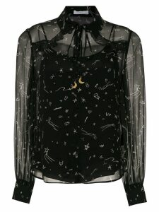 Nk printed silk shirt - Black