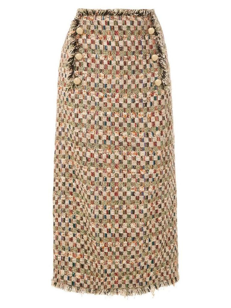 Nk frayed mid skirt - Multicolour