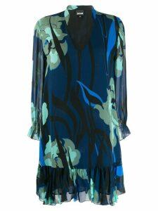 Just Cavalli printed shift dress - Blue