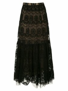 Nk lace midi skirt - Black