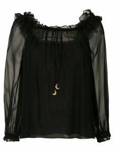Nk ruffled silk blouse - Black