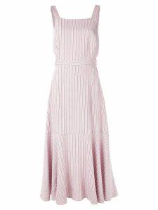Tibi Viscose twill strappy dress - Pink