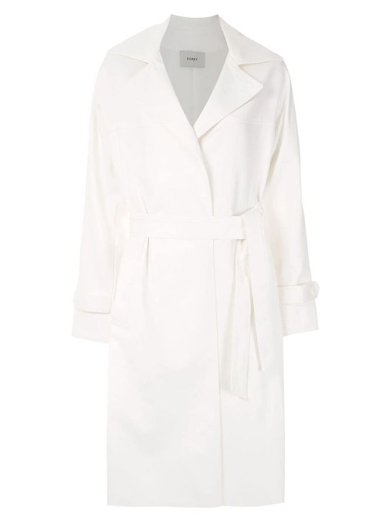 Egrey midi trench coat - White