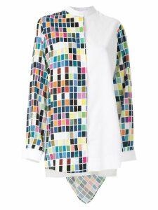 Gloria Coelho printed hooded shirt - White