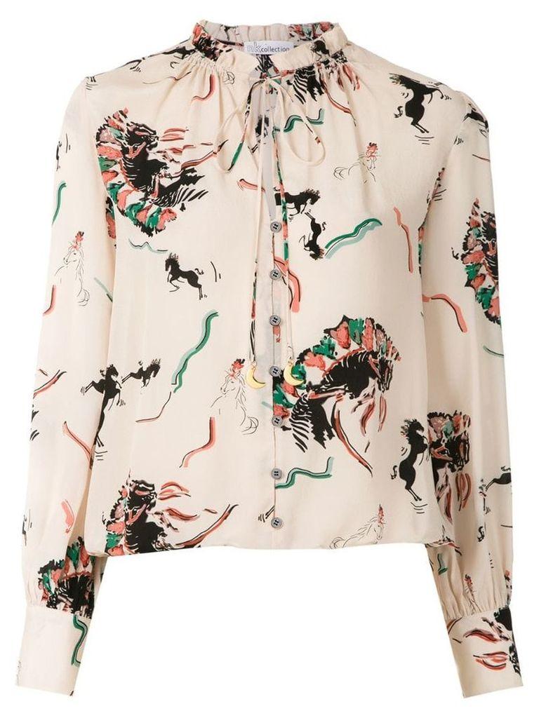 Nk printed silk blouse - Multicolour