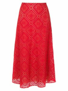 Nk lace midi skirt - Red