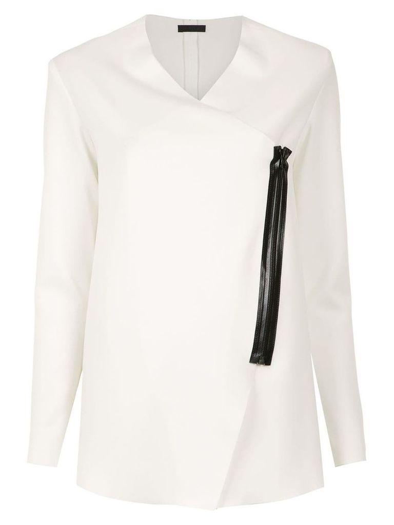 Osklen asymmetric coat - White