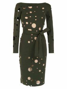 Gloria Coelho panelled midi dress - Green