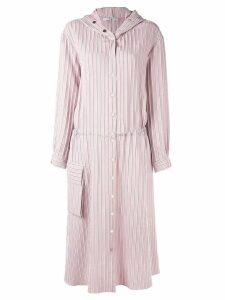Tibi striped mid-length dress - Pink