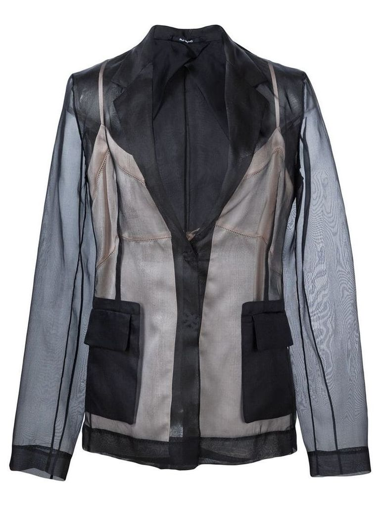 Maison Margiela lingerie detail blazer - Black