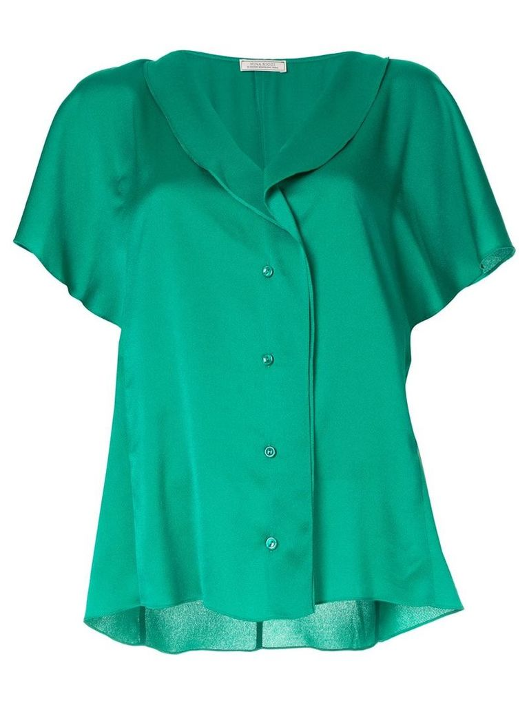 Nina Ricci ruffled sleeve bouse - Green