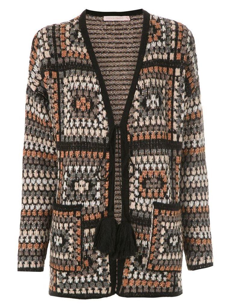 Cecilia Prado Fabricia knitted card-coat - Grey
