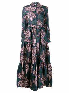 La Doublej maxi pleated dress - Green