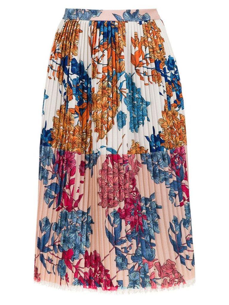 À La Garçonne printed pleated skirt - Multicolour