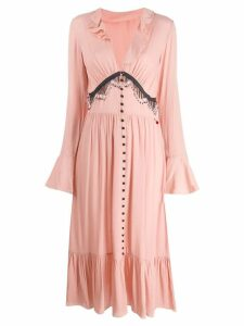 Giacobino fringed midi dress - Pink