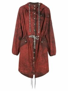 Proenza Schouler PSWL Crinkled Cotton Coat - Red