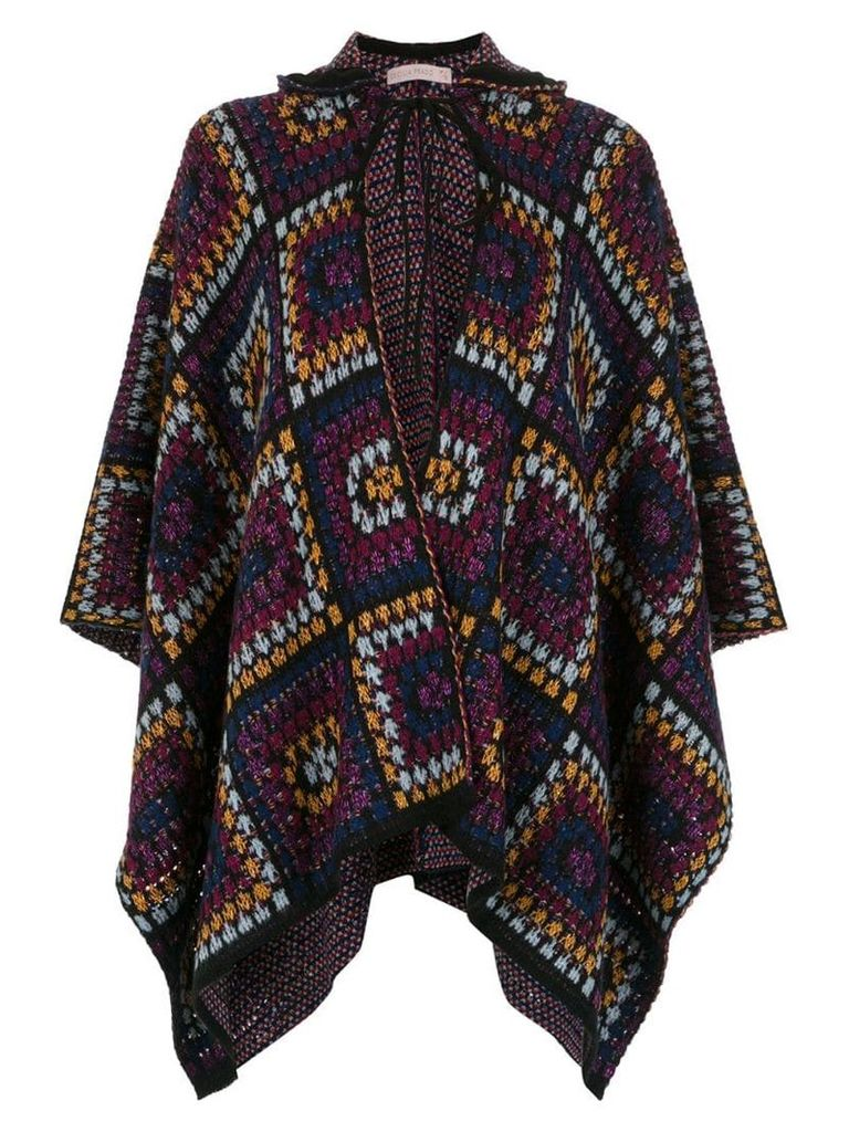 Cecilia Prado Felicia knitted poncho - Multicolour