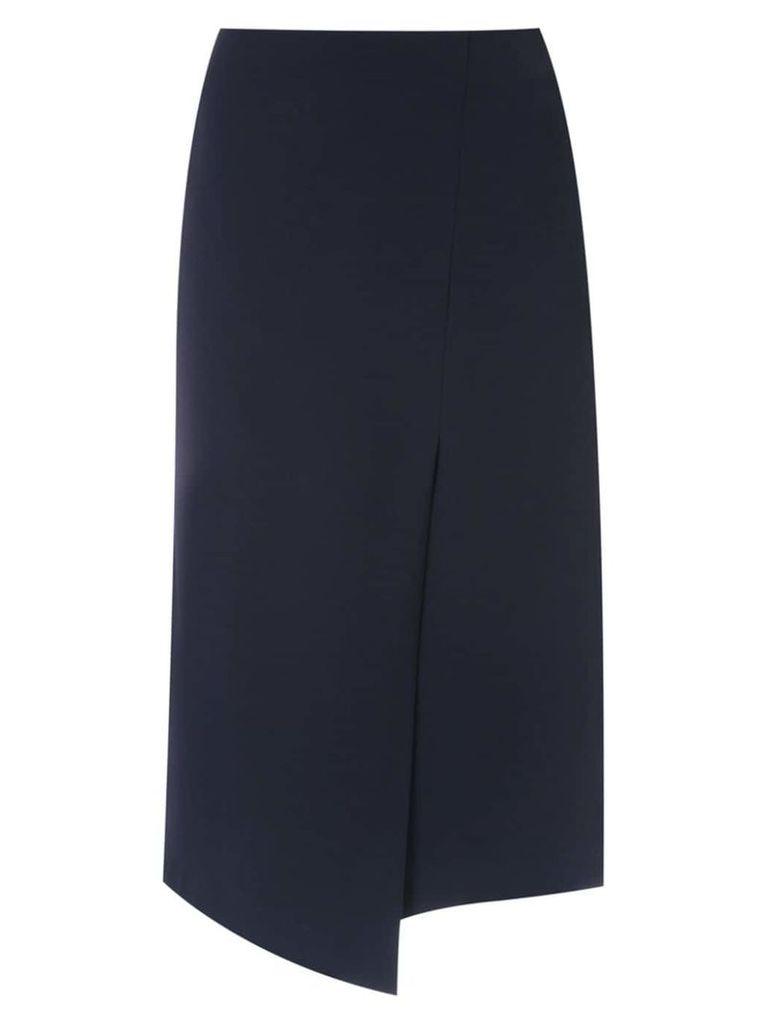 Gloria Coelho wrap midi skirt - Black