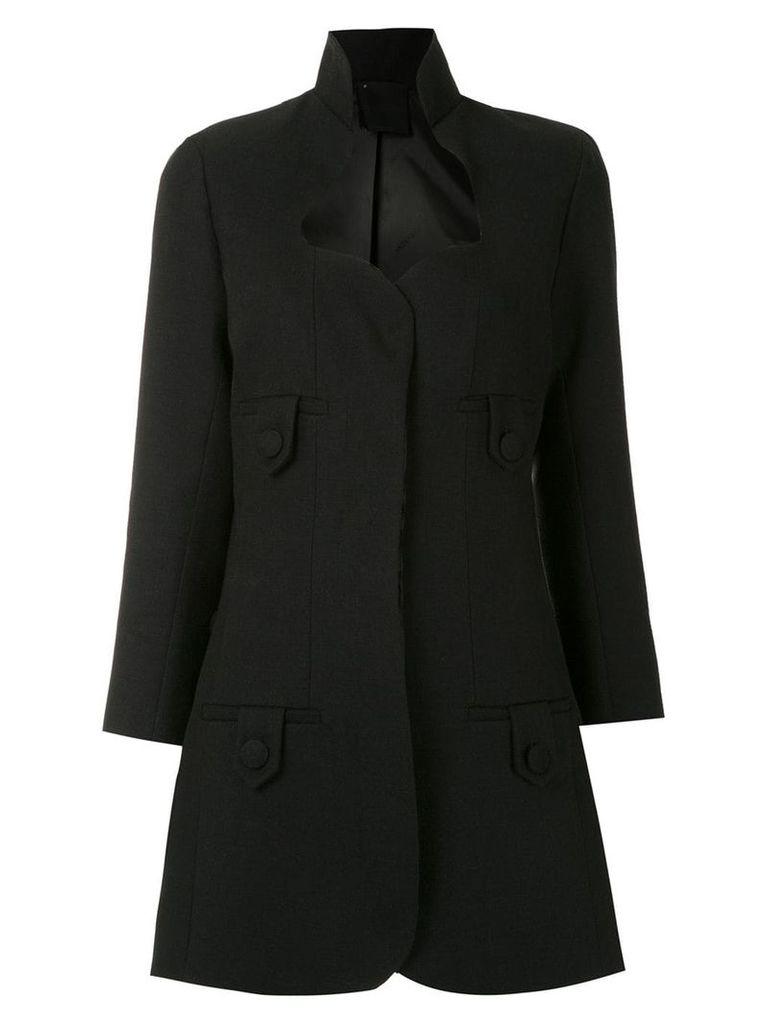 Andrea Bogosian panelled coat - Black