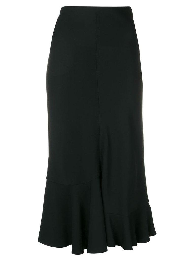 Victoria Beckham frill hem skirt - Black