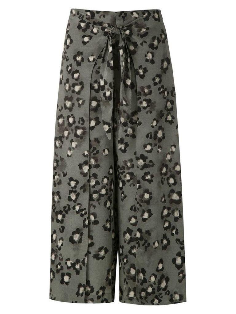 Magrella mid animal print skirt - Green