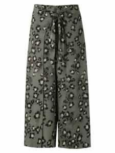 Magrella mid animal print skirt - Green