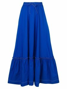P.A.R.O.S.H. ruffled hem skirt - Blue