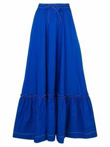 P.A.R.O.S.H. ruffled hem skirt - Blue
