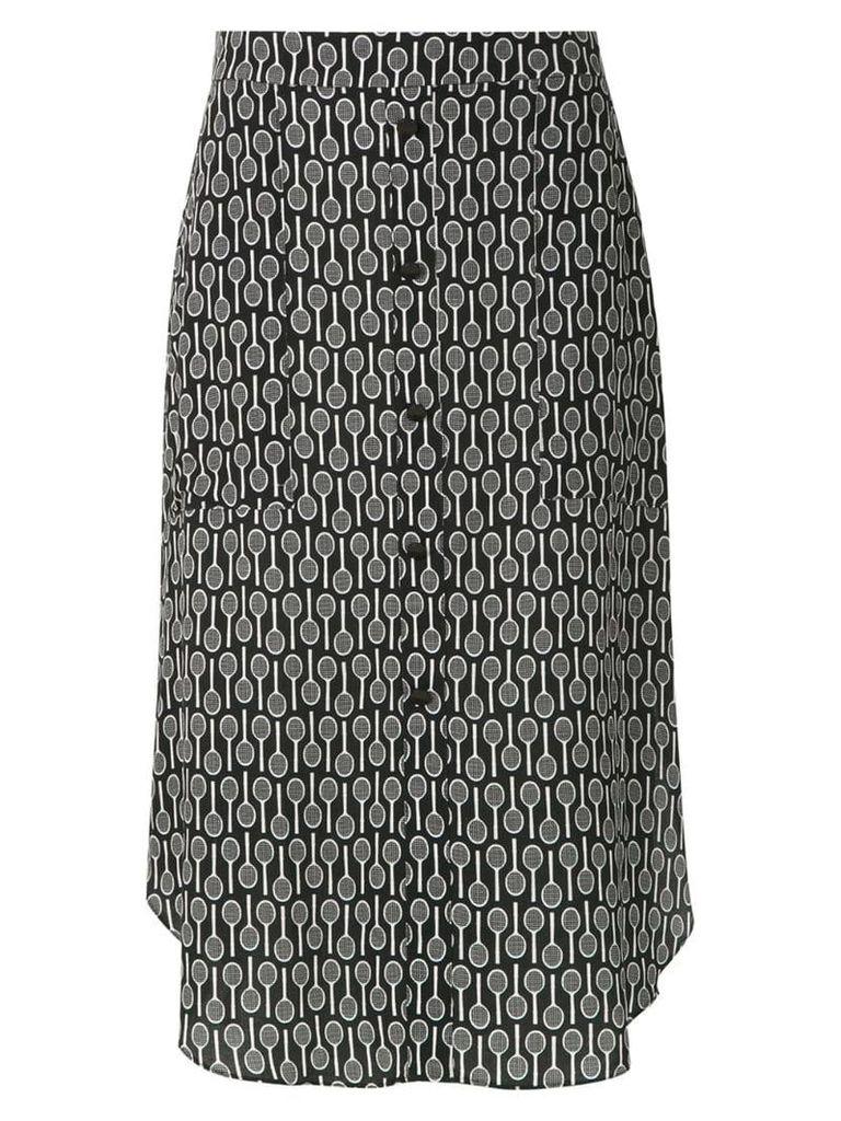 Adriana Degreas Maxi Racquet midi skirt - Black