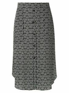 Adriana Degreas Maxi Racquet midi skirt - Black