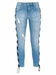 Amapô lace-up skinny jeans - Blue