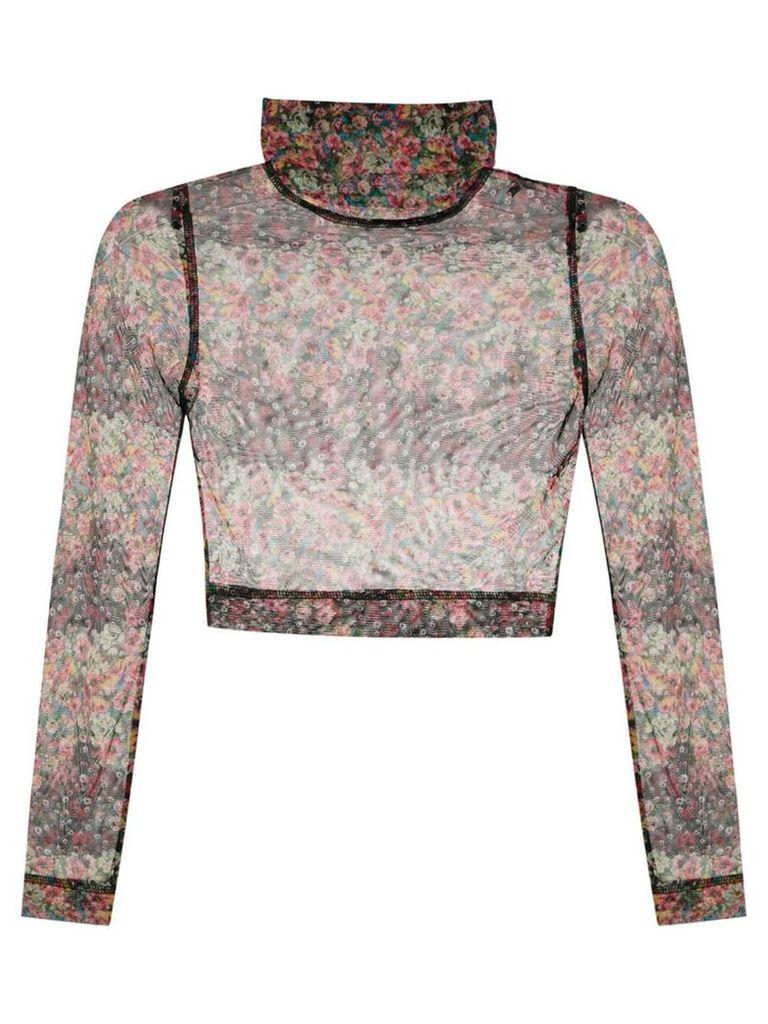 À La Garçonne printed sheer blouse - Multicolour