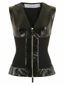 Gloria Coelho knitted coat - Black