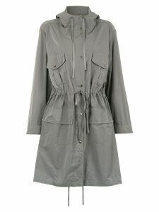 Gloria Coelho hooded trench coat - Grey