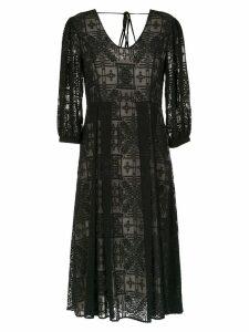 Alcaçuz Linha midi dress - Black