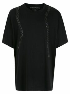 À La Garçonne À LA GARÇONNE + HERING rope print t-shirt - Black