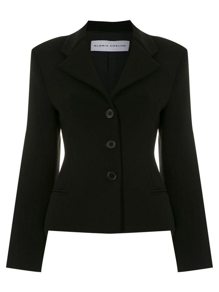 Gloria Coelho sigle breasted blazer - Black
