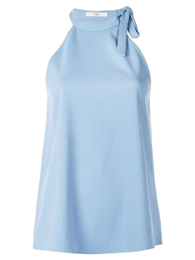 Tibi Chalky draped halter neck top - Blue