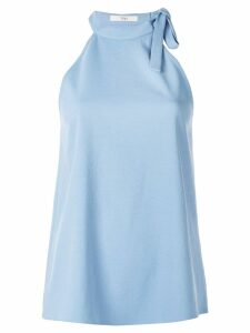 Tibi Chalky draped halter neck top - Blue