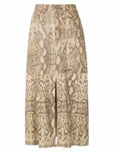 Nk snake print midi skirt - NEUTRALS